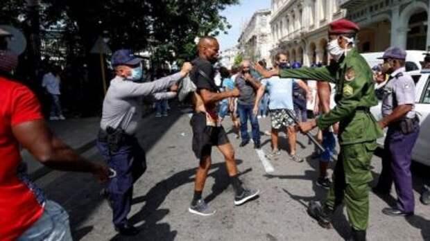 В Гаване задержали ряд протестующих