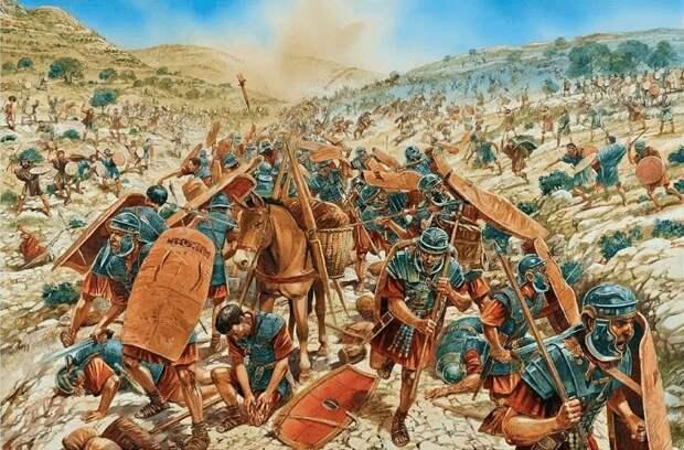 Окружив в ущелье римлян, иудеи уничтожили почти 6 тысяч легионеров / Источник: pinterest.com
