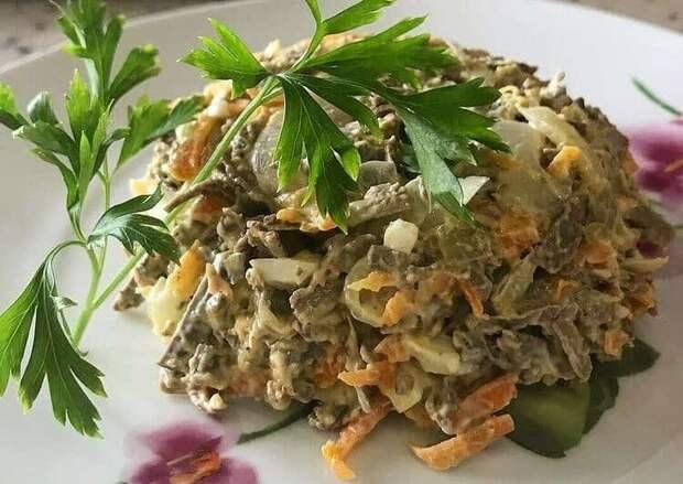 Печёночный салат-закуска. Простой рецепт и оригинальная подача 4