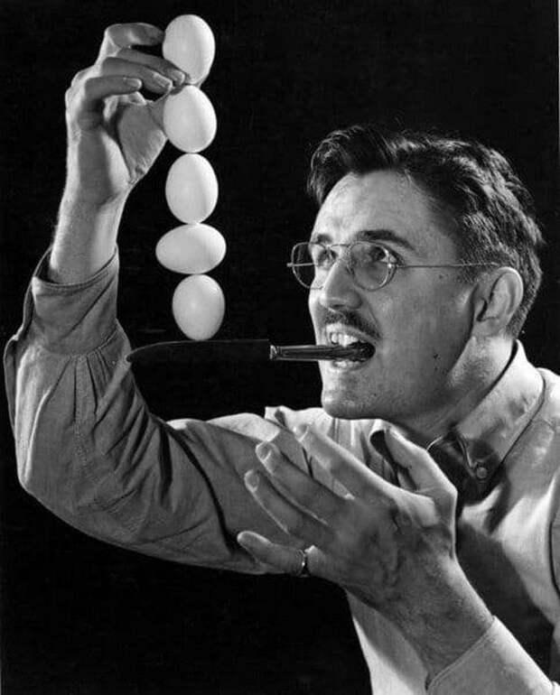 Джозеф Стейнметц демонстрирует феноменальную координацию. 1939 г.
