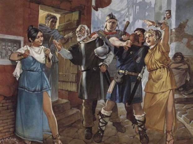 Битва романо-британцев с пиктами (V в.н.э.)
