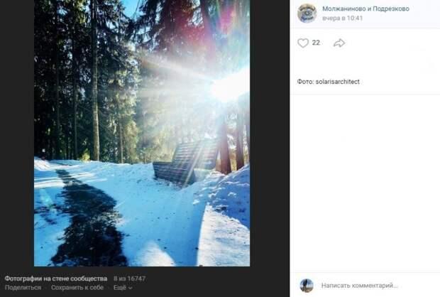 Фото дня: игра солнечных лучей в парке «Подрезково»