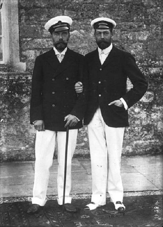 Кузены Николай II и Георг V