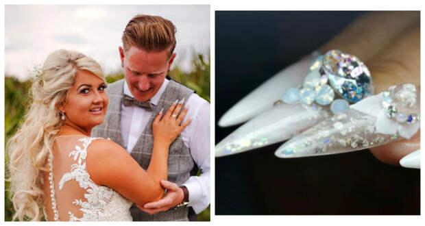 Невеста сделала свадебный маникюр с прахом своего отца, чтобы почтить его память