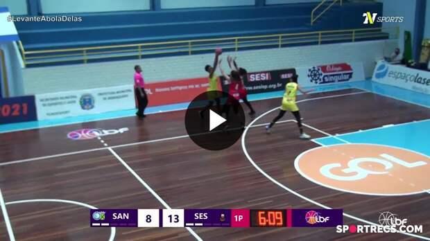 Glenda foi a melhor em quadra na vitória do Santo André/Abapa sobre o Sesi Araraquara - LBF 2021 (15/05/2021)