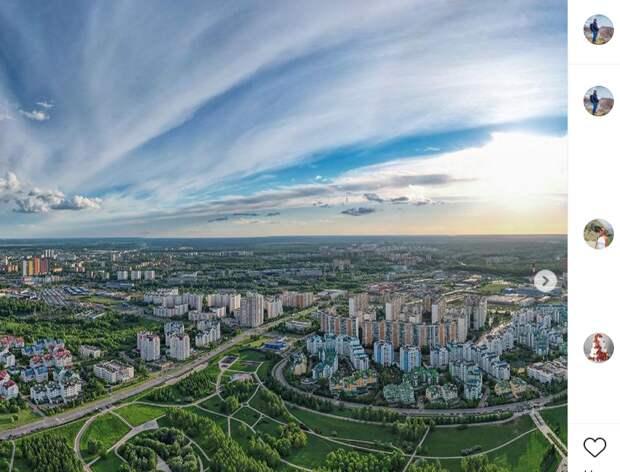 Фото дня: ландшафтный парк с высоты птичьего полета