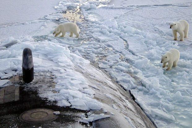Российская подводная лодка всплыла недалеко от берегов Аляски
