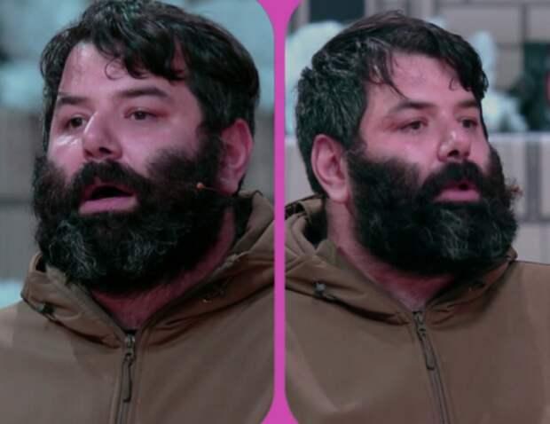 """Необычный выпуск """"Модный приговор"""" преображения мужчины с очень """"густой"""" бородой и его спутницы."""