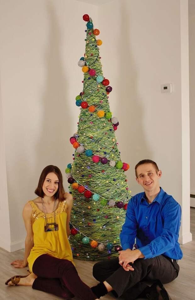 Как сделать оригинальную новогоднюю елку своими руками