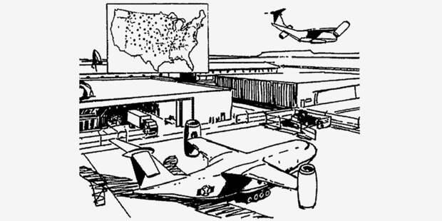 СВВП-носитель МБР икарта, возможно, расположений площадок его базирования натерритории материковых США