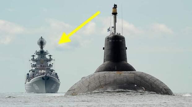 Анекдот: Всплывает «Акула» высотой 9 этажей, ей навстречу корабль США:«Почему русские бегают, уже испугались?»