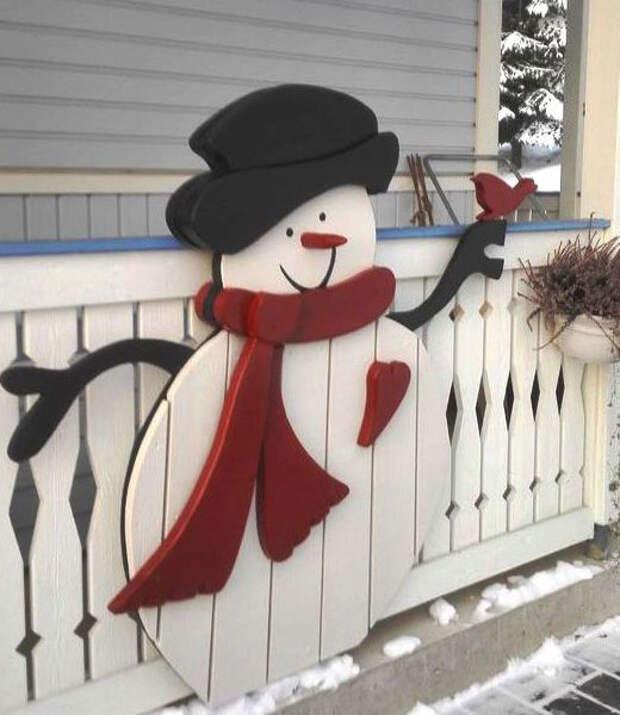 снеговик на улице