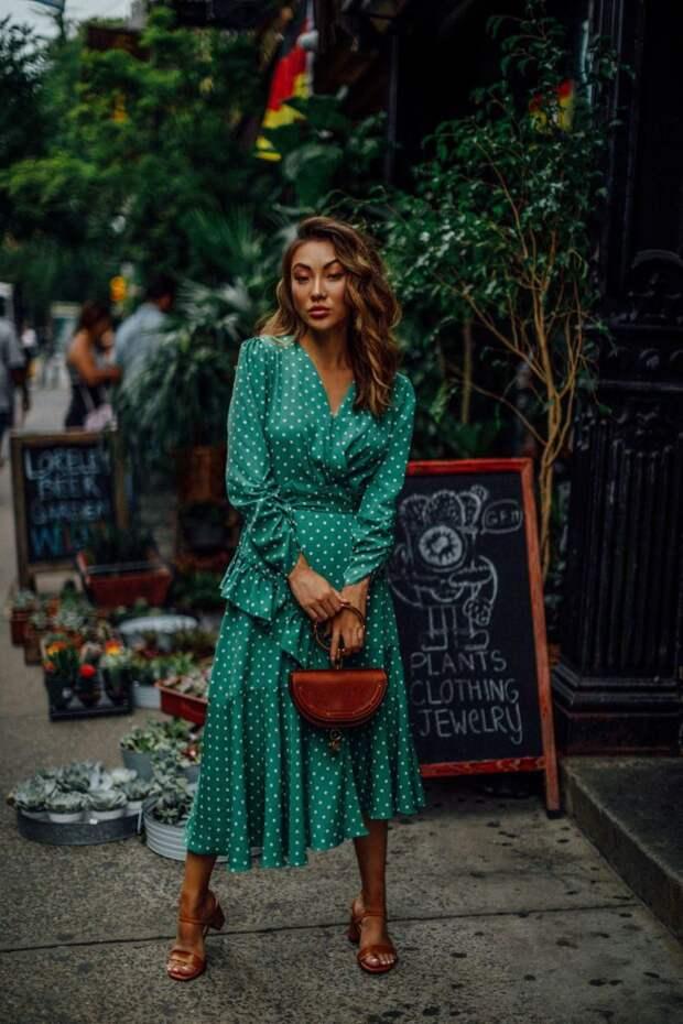 Платье в горошек фото 11
