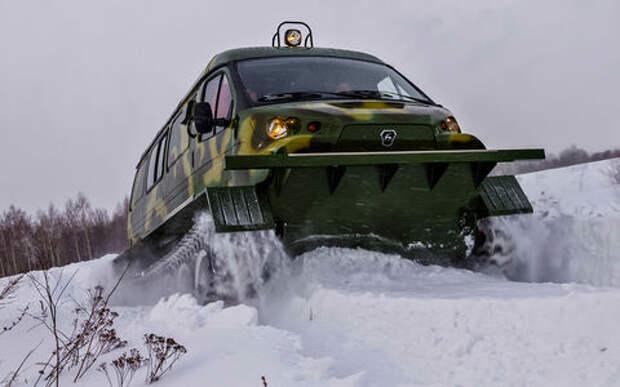 Дикая ГАЗель: жесткий тест-драйв снегоболотохода Ирбис