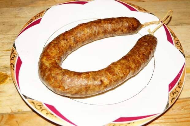 Домашняя колбаса на скорую руку