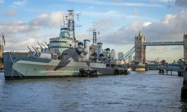 """Британский крейсер """"Белфаст"""", на котором каждое 9 мая празднуется Victory Day"""