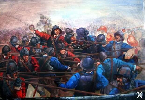 Сражение при Марстон-Муре в 1644 году...
