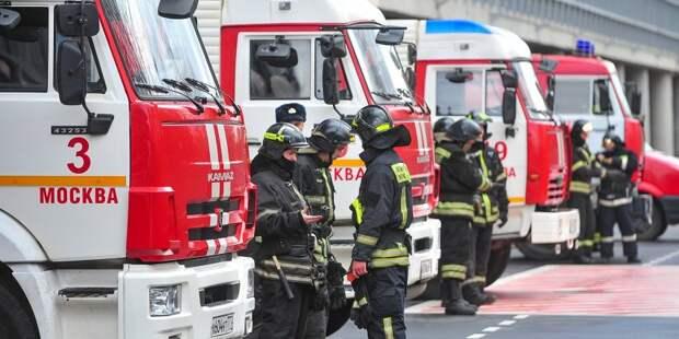 В «ВТБ-Арене» прошли пожарные учения