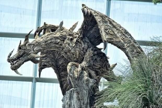 Скульптуры из коряг!