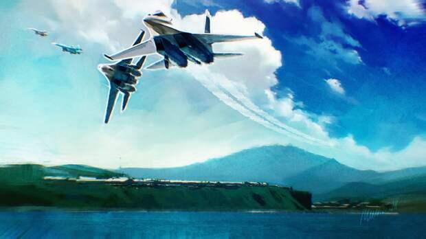 Су-27 сопроводили французские истребители в небе над Черноморским регионом