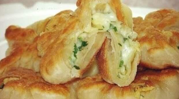 Кефирные конвертики с сыром и зеленью. Вкусное угощение на скорую руку 2