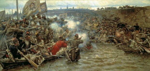 Василий Суриков: «Покорение Сибири Ермаком»