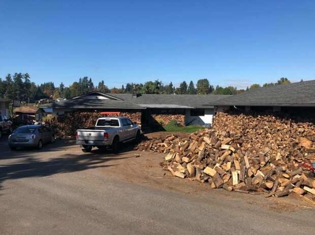 Папа и его 2 сына нарубили 80 машин дров. И раздали их ″холодным″ домам!