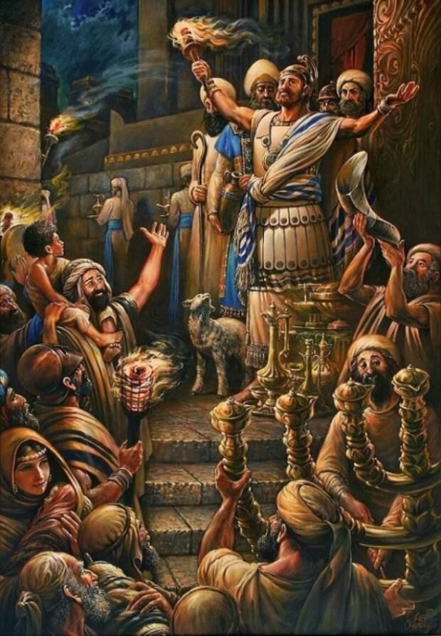 Иудеи празднуют победу в восстании против Рима / Источник: twitter.com