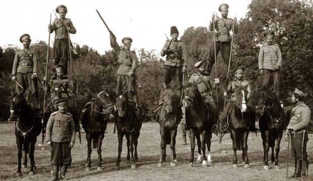 Атака кавалерии. Военные маневры. 1918 год Кинохроника