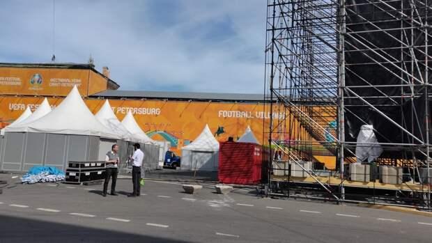 Ограничения движения начали действовать в центре Петербурга в преддверии Евро-2020