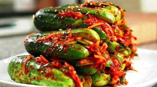 Корейская закуска кимчи из огурцов. Настолько вкусно, что пальчики оближешь 2