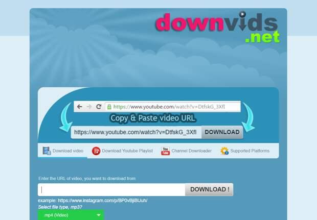 Downvids video downloader