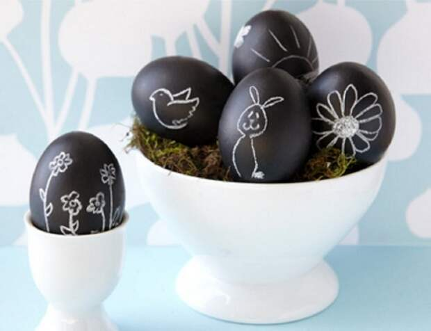 Много стильных идей декора яиц на Пасху