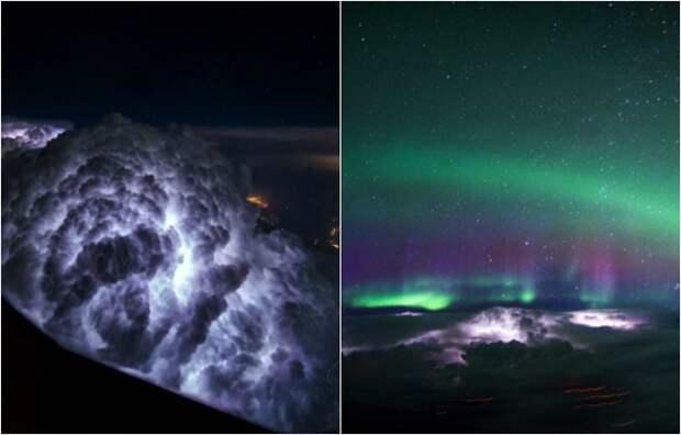 Фотографии, сделанные пилотами авиалайнеров над разными городами и странами.