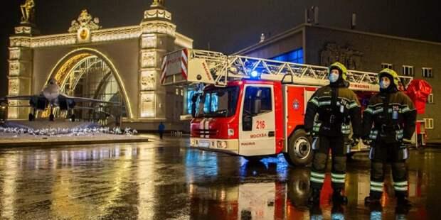 Московские пожарные обеспечили безопасность в новогоднюю ночь. Фото: Архив редакции