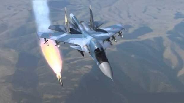 Российский штурмовик Су-34 уничтожил в Идлибе 10 турецких БТР