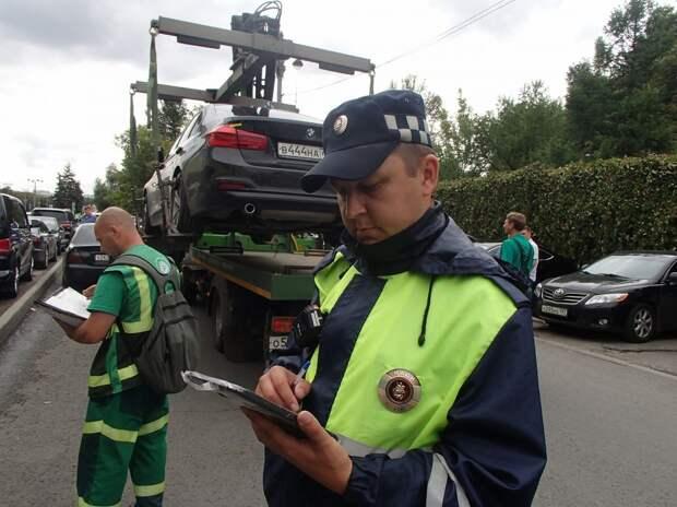 Проспект Мира удерживает лидерство по числу эвакуаций автомобилей в Москве