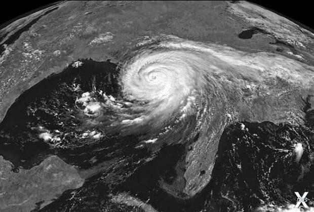 Ураган «Катрина», вид со спутника