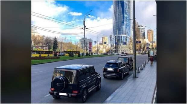 По Киеву проехал кортеж на миллион долларов с неприметными номерами