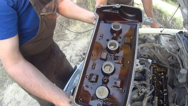 Двигатель до и после промывочного масла: смотрим на примере