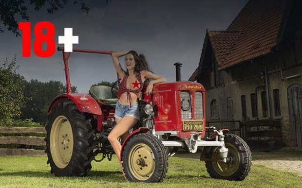 Прелестницы и сельхозтехника: задорный календарь на 2019 год