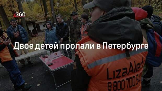 Поисковый отряд Лиза Алерт сообщил о поисках двух детей в Санкт-Петербурге