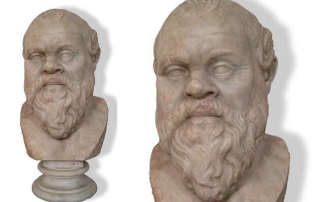 Бюст Сократа. Мрамор. Инв. № 6129. Неаполь, Национальный археологический музей.
