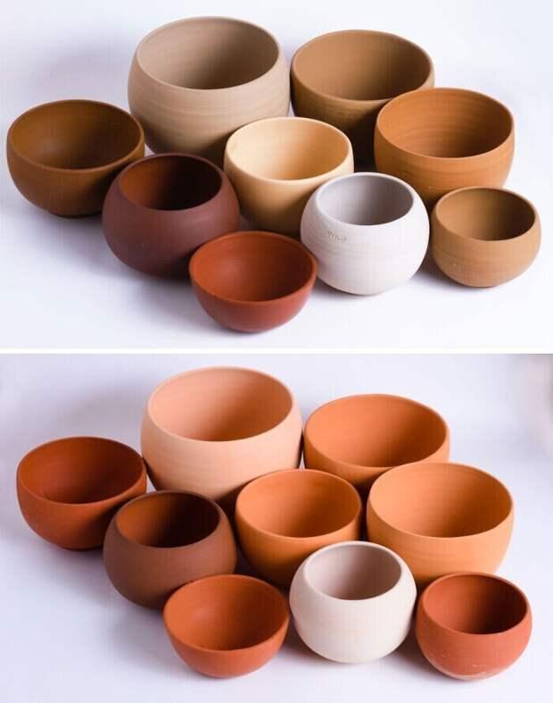 """9. """"Я делаю керамику из глины, которую выкапываю сама. Эти горшки - из 9 различных видов глин, которые можно найти в районе Брисбена"""""""