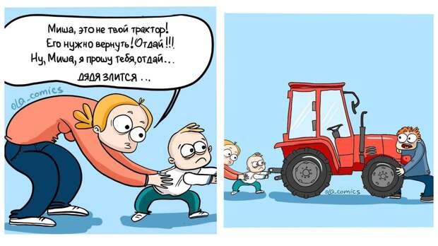 12 комиксов о курьезах и реалиях материнства