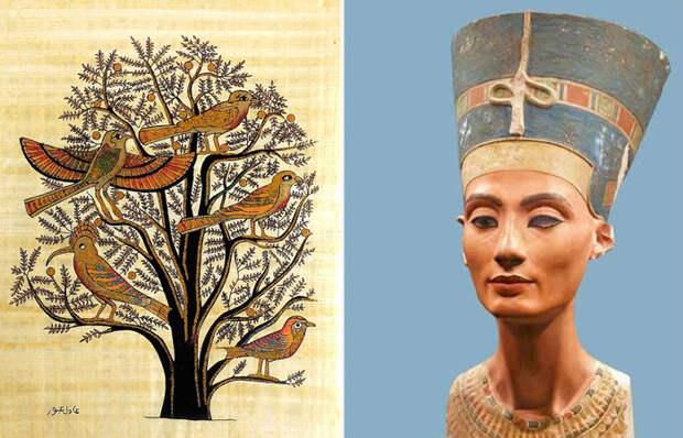 Астрономический потолок, золотой трон и другие знаковые произведения искусства Древнего Египта, по к