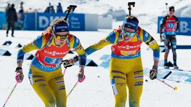 Швеция вырвала победу в женской эстафете на этапе КМ в Нове-Место, россиянки — 7-е