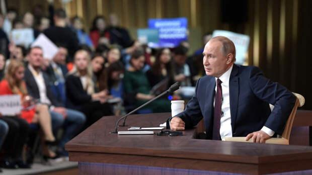 О прямой линии президента Путина.