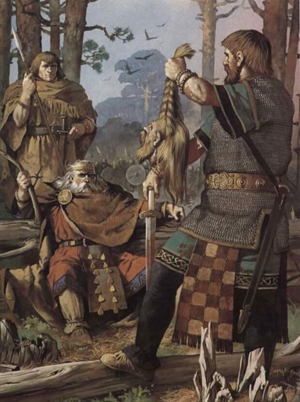 Ирландский вождь Брайан Бору с головой викинга (XI в.н.э.)
