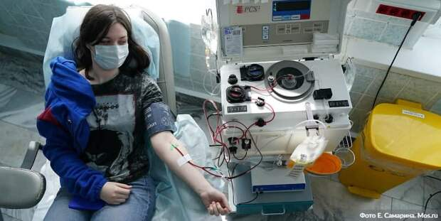В Москве увеличено число пунктов сдачи плазмы с антителами к COVID-19. Фото: Е.Самарин, mos.ru